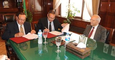 جامعة النيل الأهلية توقع بروتوكول تعاون مع بنك مصر لتقديم منح للطلاب