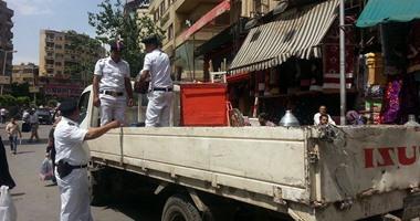 حملة لشرطة المرافق لإزالة الإشغالات من ميادين وشوارع الجيزة