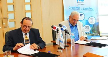 جامعة النيل توقع مذكرة تفاهم مع مجموعة إنترنت مصر لتسويق التكنولوجيا