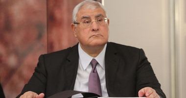 المستشار عدلى منصور يلتقى وزير العدل المجرى ورئيس البرلمان