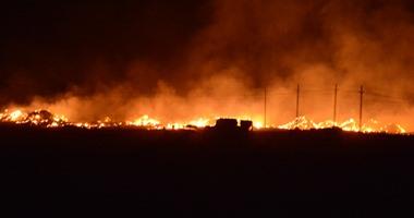 واتس آب  : حريق بمخزن ملابس بشارع العريش فى الهرم