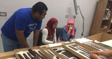 بالصور.. المتحف الكبير يستقبل 198 قطعة من المتحف المصرى