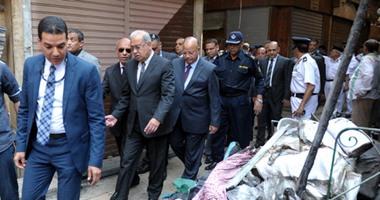 بالصور.. رئيس الوزراء يتفقد موقع حريق الغورية  اليوم السابع
