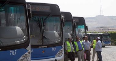 """""""النقل العام"""" تدفع اليوم بـ130 أتوبيسا لخدمة أماكن الاحتفال بالعيد فى القاهرة"""