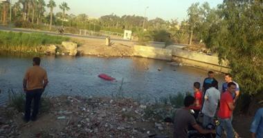 سقوط سيارة بترعة البراجيل فى أوسيم وإصابة 3 أشخاص