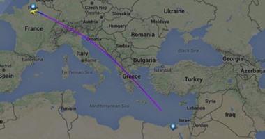 خريطة خط سير الطائرة المفقودة