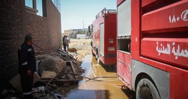 """السيطرة على حريق بورشة """"إسفنج"""" أسفل عمارة سكنية بشبرا الخيمة"""