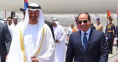 """بالفيديو.. الرئيس السيسي يستقبل الشيخ محمد بن زايد ولى عهد """"أبو ظبى"""""""