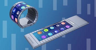 بالصور.. إطلاق أول هاتف ذكى فى العالم قابل للطى يمكن ارتداؤه هذا العام  5201625211572286