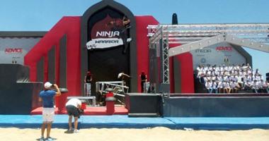 مليون مشاهدة لأول مشترك يتخطى المرحلة الأول من ninja warrior بالعربى