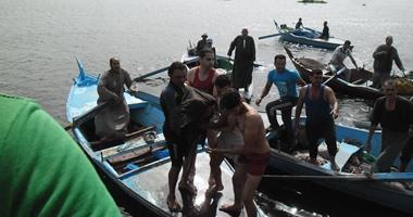 انتشال جثة شاب بعد 3 أيام من غرقه بمياه بحر مويس فى الشرقية