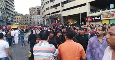تشكيل لجنة هندسية لتقدير خسائر حريق عقارات الرويعى فى العتبة  اليوم السابع
