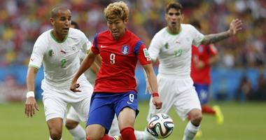 جانب من مبارة الجزائر وكوريا