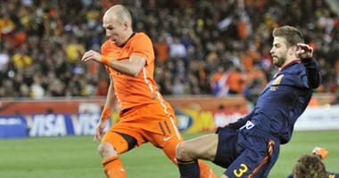 جول مورنينج.. روبن يسجل هدفاً رائعاً لهولندا ضد إسبانيا في مونديال 2014