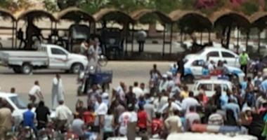 صورة لآثار العملية الإرهابية بمعبد الكرنك