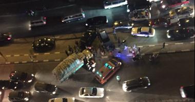 مصرع شاب وإصابة سائق فى حادث تصادم بطريق إهناسيا ببنى سويف  اليوم السابع