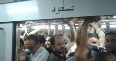 ارتباك بحركة الخط الثانى للمترو بسبب تعطل قطار بين العتبة ومحمد نجيب