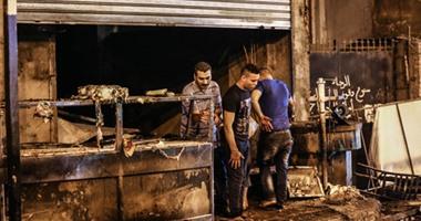 انتداب المعمل الجنائى لمعاينة حريق شب فى محل بمدينة نصر