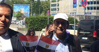 بالصور.. الوفد الشعبى يصل مطار برلين.. وإعلانات  نيو إيجيبت  تزين ألمانيا  اليوم السابع