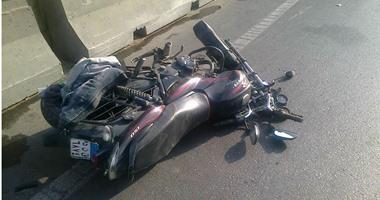 إصابة شخصين فى حادث انقلاب موتوسيكل بقنا