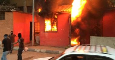 احتراق 3 منازل بسبب اندلاع النيران فى مخبز بلدى بأسيوط