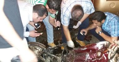 حادث انفجار القنبلة بجسد الارهابيين