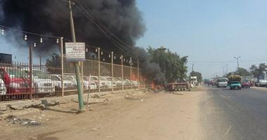 النيابة تأمر بدفن جثث ضحايا حادث حريق معرض سيارات قليوب