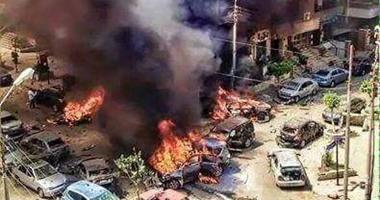 جانب من انفجار حادثة النائب العام