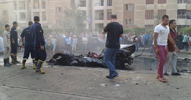 انفجار سيارة بمحيط قسم أكتوبر