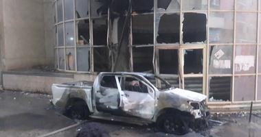 """""""واتس آب اليوم السابع"""": بالصور..مجهولون يحرقون سيارة بالقومية فى الزقازيق"""