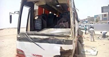 """""""صحة جنوب سيناء"""": نقل 40 مصابا بحادث نويبع لمستشفيات شرم الشيخ ودهب"""