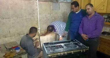 توصيل الغاز الطبيعى لـ2241 مواطنًا فى شمال سيناء بتكلفة 4 ملايين جنيه