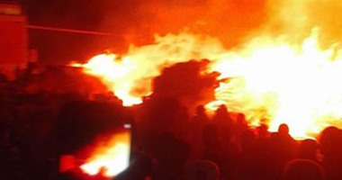 اندلاع حريق فى مبنى لتخزين منتجات النفط فى إيران
