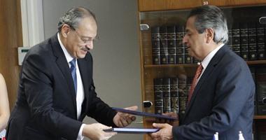 بالصور.. النائب العام ونظيره القبرصى يوقعان مذكرة تعاون لمكافحة الجريمة العابرة للحدود