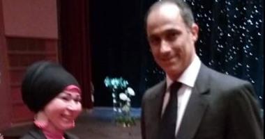 """أدمن """"آسف ياريس"""" ينشر صورة جمال مبارك فى دار الأوبرا لحضور حفل نجلته"""