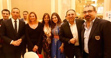 علاء الكحكى ونجوم الفن والإعلام  فى حفل إفطار اليوم السابع