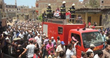 تشييع جثمان أمين شرطة بالدقهلية استشهد فى شمال سيناء