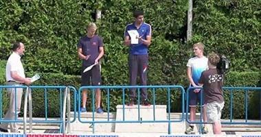 يوسف عبد الله يفوز بذهبية بطولة التشيك الدولية فى السباحة