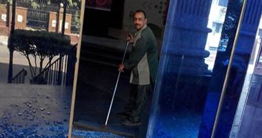 تهشم واجهة ونوافذ نقابة الصحفيين