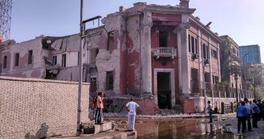 جانب من انفجار القنصلية الإيطالية