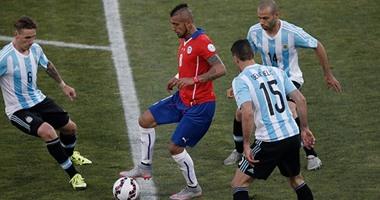 الأرجنتين وتشيلى يلعبان شوطين إضافيين بعد التعادل السلبى بنهائى كوبا أميركا