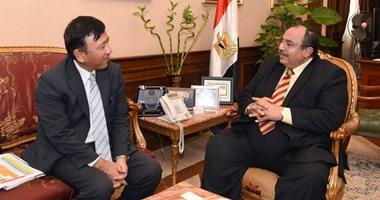 محافظ الإسكندرية يبحث مع سفير اليابان سبل التعاون فى مجالى التعليم والنقل