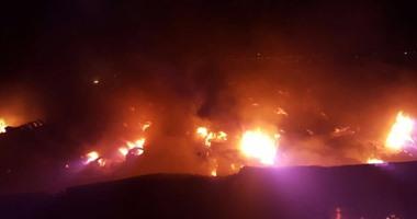 السعودية ..انفجار وحريق فى خزان للوقود بمحطة وقود شمال جدة نتيجة اعتداء إرھابى