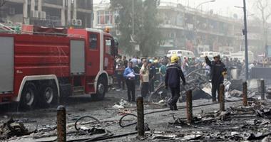 إصابة مدنيين عراقيين فى تفجير انتحارى بحزام ناسف وسط بغداد