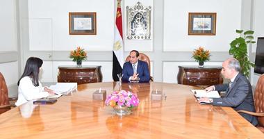 السيسى يستعرض مع وزيرة الاستثمار طرح شركات للاكتتاب بالبورصة