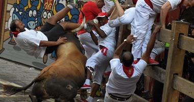 نتيجة بحث الصور عن انطلاق مهرجان سان فيرمين للركض مع الثيران