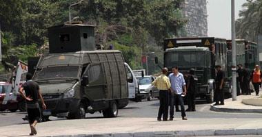قوات الأمن تلقى القبض على 4 مشتبه بهم بميدان نهضة مصر