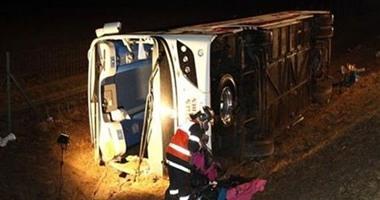 تفاصيل حادث تصادم الأتوبيس السياحى بسيارة ترلة بداية طريق سفاجا الغردقة