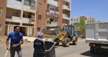 بالصور.. حملة تطوعية لشباب الخارجة لتنظيف أحياء المدينة وشوارعها