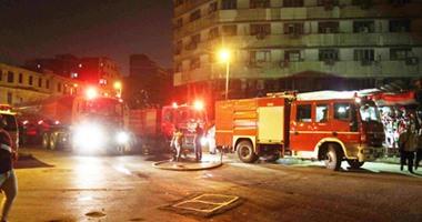 الدفع بـ4 سيارات إطفاء للسيطرة على حريق مصنع مواد لاصقة بالقناطر الخيرية